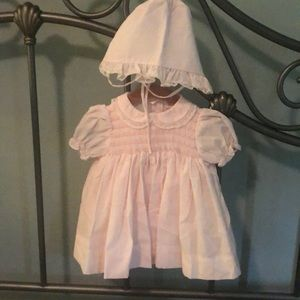 Petit Ami NB Dress w matching Bonnet and Bloomers